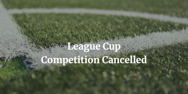 Bournemouth League Cup Cancelled